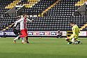 Robin Shroot of Stevenage's shot is saved by Bartosz Bialkowski of Notts County<br />  - Notts County v Stevenage - Sky Bet League One - Meadow Lane, Nottingham - 24th August 2013<br /> © Kevin Coleman 2013