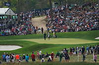 Scott Piercy (USA) and Jimmy Walker (USA) walking off the 17th green during the final round at the PGA Championship 2019, Beth Page Black, New York, USA. 20/05/2019.<br /> Picture Fran Caffrey / Golffile.ie<br /> <br /> All photo usage must carry mandatory copyright credit (© Golffile | Fran Caffrey)