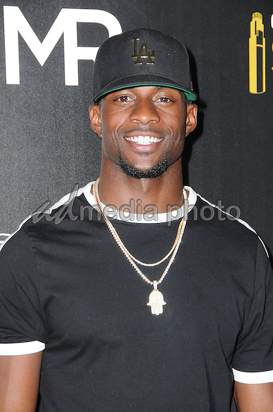 14 July 2016 - Los Angeles, California. Emmanuel Sanders. Arrivals for the Launch of OUE Skyspace LA held at US Bank Tower. Photo Credit: Birdie Thompson/AdMedia