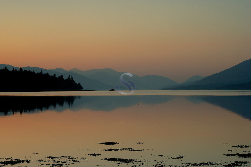 Loch Eil at sunset, Lochaber<br /> <br /> Copyright www.scottishhorizons.co.uk/Keith Fergus 2011 All Rights Reserved