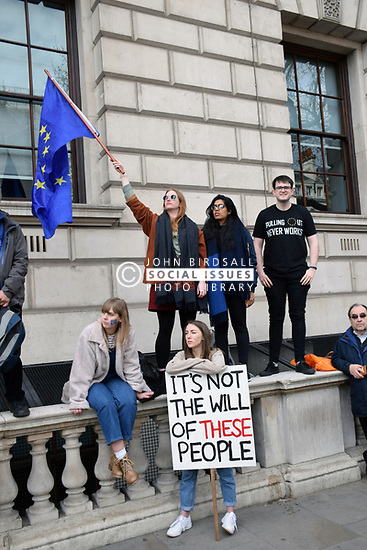 Put it to the People demonstration in central London against Brexit and an appeal for a Peoples Vote on a final Deal. London UK 23 March 2019