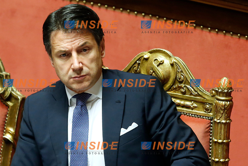 Giuseppe Conte<br /> Rome February 21st 2019. Senate. The Italian Premier answer the questions of the senators during the Question Time.<br /> Foto Samantha Zucchi Insidefoto