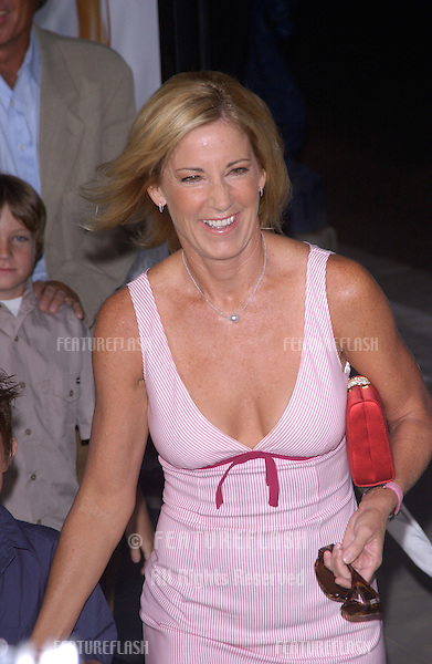 Tennis star CHRIS EVERT at the world premiere, in Beverly Hills, of the new tennis romantic comedy Wimbledon..September 13, 2004