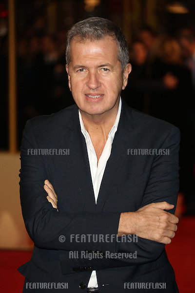 Mario Testino arriving at the World Premiere of 'Les Miserables' held at the Odeon & Empire Leicester Square, London. 05/12/2012 Picture by: Henry Harris / Featureflash
