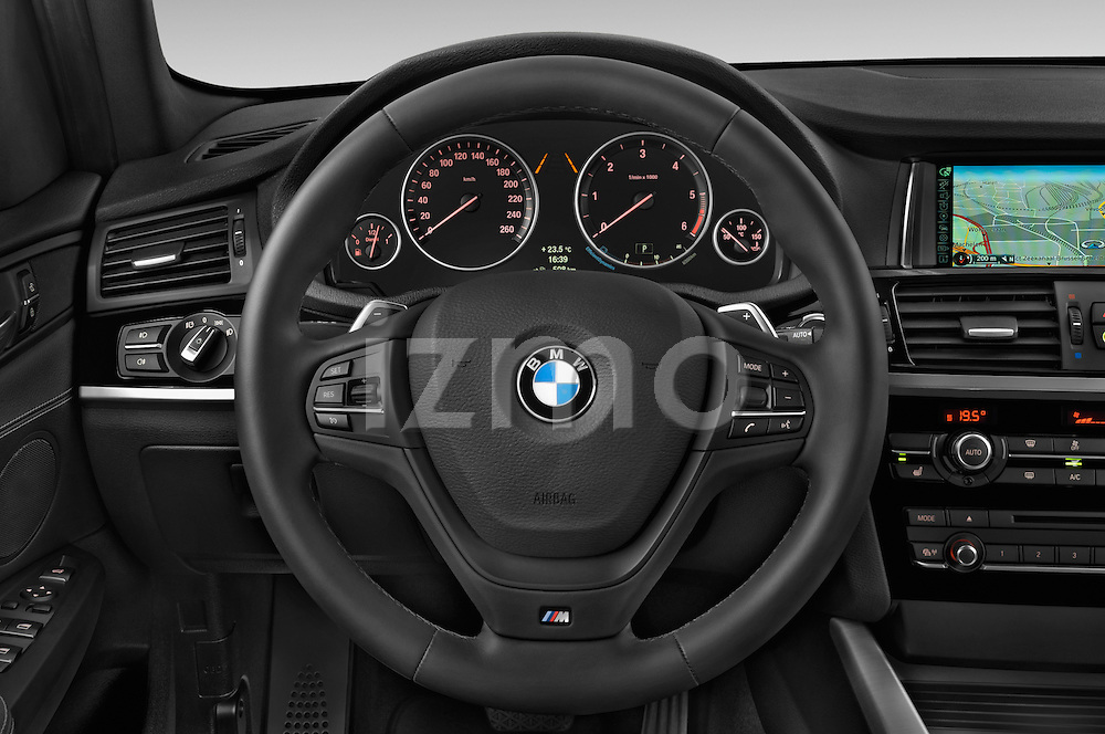 Car pictures of steering wheel view of a 2015 BMW X3 M Sportpakket 5 Door Suv Steering Wheel