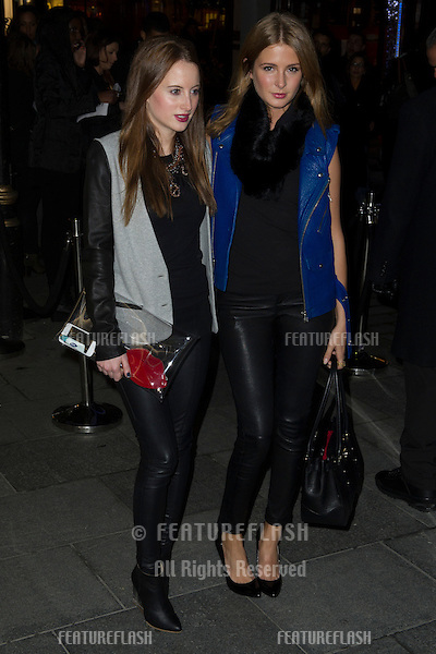 Millie Mackintosh and Rosie Fortescue arriving at the Launch of the Supertrash Store on Molten Street, London. 21/11/2012 Picture by: Simon Burchell / Featureflash