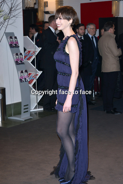 "Anne Hathaway (in Chanel Couture, Casadei pumps) attending ""Les Miserables"" Premiere at Friedrichstadtpalast, Berlin, 09.02.2013...Credit: Michael Timm/face to face"