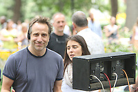 July 31,  2012 Nina Dobrav, Director Jesse Peretz on location for HBO series Girls at Washington Square Park in New York City.Credit:© RW/MediaPunch Inc. /NortePhoto.com<br /> <br /> **SOLO*VENTA*EN*MEXICO**<br /> **CREDITO*OBLIGATORIO** <br /> *No*Venta*A*Terceros*<br /> *No*Sale*So*third*<br /> *** No Se Permite Hacer Archivo**<br /> *No*Sale*So*third*