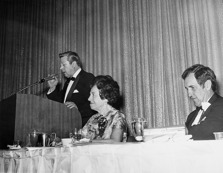 Sen. Edmund Muskie, D-Maine sitting with his party members in 1969. (Photo by CQ Roll Call)
