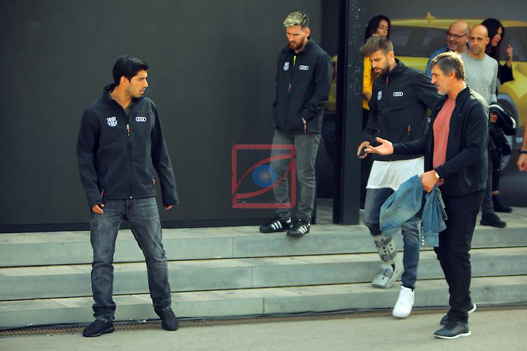 AUDI Premium Partner del FC Barcelona.<br /> Luis Suarez, Lionel Messi, Gerard Pique &amp; Pepe Costa.