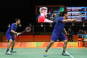 Hiroyuki Endo &amp; Kenichi Hayakawa (JPN),<br /> AUGUST 15, 2016 - Badminton : <br /> Men's Doubles Quarter-final<br /> at Riocentro - Pavilion 3<br /> during the Rio 2016 Olympic Games in Rio de Janeiro, Brazil. <br /> (Photo by Koji Aoki/AFLO SPORT)