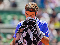 France, Paris , May 24, 2015, Tennis, Roland Garros, Roger Federer (SUI)<br /> Photo: Tennisimages/Henk Koster