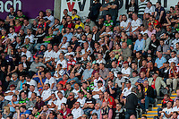 Swansea City Fans during the Barclays Premier League match between Swansea City and Everton played at the Liberty Stadium, Swansea  on September 19th 2015