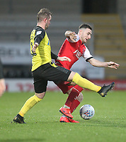 Fleetwood Town's Lewis Coyle in action with Burton Albion's David Templeton<br /> <br /> Photographer Mick Walker/CameraSport<br /> <br /> The EFL Sky Bet League One - Burton Albion v Fleetwood Town - Saturday 11th January 2020 - Pirelli Stadium - Burton upon Trent<br /> <br /> World Copyright © 2020 CameraSport. All rights reserved. 43 Linden Ave. Countesthorpe. Leicester. England. LE8 5PG - Tel: +44 (0) 116 277 4147 - admin@camerasport.com - www.camerasport.com