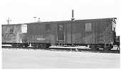 Outfit bunk car #04432 at Alamosa in red oxide paint.<br /> D&amp;RGW  Alamosa, CO  Taken by Maxwell, John W. - 7/5/1965