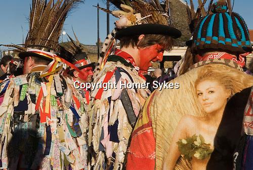 Morris dancers Whittlesea Whittlesey Cambridgeshire UK 2008