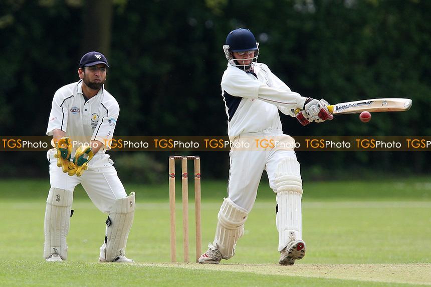F Butt looks on as A D'Cruz bats for Upminster - Upminster CC vs Ardleigh Green CC - National Club Championship 1st Round - 16/05/10 - MANDATORY CREDIT: Gavin Ellis/TGSPHOTO - Self billing applies where appropriate - Tel: 0845 094 6026