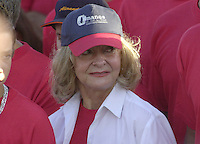 Dalia Soto del Valle (C), wife of the Cuban President Fidel Castro, assists the rally in the Square of the Revolution,  Havana, May 1, 2004. Credit: Jorge Rey/MediaPunch