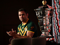 Australian captain Cameron Smith. Rugby League World Cup Media photo call featuring the coach and a player from each of the 14 RLWC2017 teams Sofitel, Brisbane, Australia, 22 October 2017. Photos: Grant Trouville / NRL Photos IMAGE SUPPLIED VIA SWpix.com/NRLPhotos.com - Mandatory credit/byline Grant Trouville