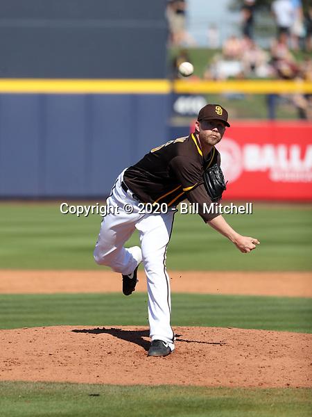 Pierce Johnson - San Diego Padres 2020 spring training (Bill Mitchell)