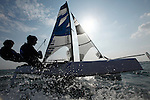 Training session on F18 before the Eurocat 2011, the great catamaran in Carnac, Brittany, France.