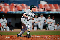 Dartmouth Big Green first baseman Michael Calamari (3) bats during a game against the Bradley Braves on March 21, 2019 at Chain of Lakes Stadium in Winter Haven, Florida.  Bradley defeated Dartmouth 6-3.  (Mike Janes/Four Seam Images)