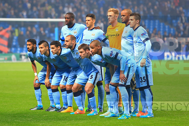 Manchester City team group - Manchester City vs. CSKA Moscow - UEFA Champions League - Etihad Stadium - Manchester - 05/11/2014 Pic Philip Oldham/Sportimage