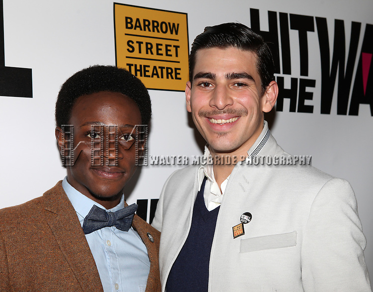 Gregory Haney & Arturo Soria attending the Cast Reception for the New York Premiere Opening Night Performance of 'Hit The Wall' at the Barrow Street Theatre  in New York City on 3/10/2013