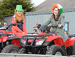 Pauline Duff and Lea Fox pictured at the Ardee St. Patrick's day parade. Photo: Colin Bell/pressphotos.ie