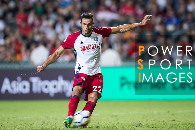 West Bromwich Albion midfielder Nacer Chadli in action during the Premier League Asia Trophy match between Leicester City FC and West Bromwich Albion at Hong Kong Stadium on 19 July 2017, in Hong Kong, China. Photo by Yu Chun Christopher Wong / Power Sport Images