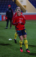 13th February 2020; Deva Stadium, Chester, Cheshire, England; Womens Super League Football, Liverpool Womens versus Arsenal Womens;  Jordan Nobbs of Arsenal Women and England warms up before the match
