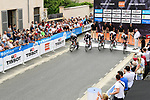 Team Sunweb power off the start ramp during Stage 3 of the 2018 Criterium du Dauphine 2018 a Team Time Trial running 35km from Pont de Vaux to Louhans Chateaurenaud, France. 6th June 2018.<br /> Picture: ASO/Alex Broadway | Cyclefile<br /> <br /> <br /> All photos usage must carry mandatory copyright credit (&copy; Cyclefile | ASO/Alex Broadway)