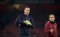 Goalkeeper Dejan Iliev of Arsenal pre match during the UEFA Europa League match between Arsenal and Qarabag FK at the Emirates Stadium, London, England on 13 December 2018. Photo by Andy Rowland.