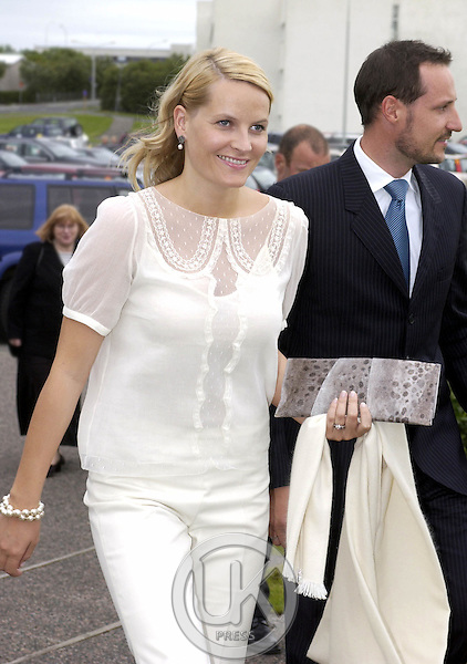 Crown Prince Haakon & Crown Princess Mette-Marit of Norway's visit to Iceland..Return Reception at the Nordens Hus..