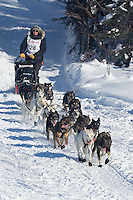 Peter Kaiser on Long Lake at the Re-Start of the 2012 Iditarod Sled Dog Race