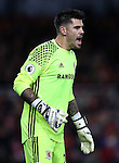 Victor Valdes of Middlesbrough during the English Premier League match at the Riverside Stadium, Middlesbrough. Picture date: November 20th, 2016. Pic Simon Bellis/Sportimage