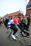 Dutch National Champion Niki Terpestra (Omega Pharma-Quick Step) makes his way to the start of the 56th edition of the E3 Harelbeke, Belgium, 22nd  March 2013 (Photo by Eoin Clarke 2013)