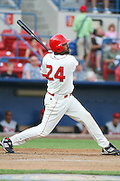 July 21th 2008:  Joey Butler of the Spokane Indians, Short Season Class-A affiliate of the Texas Rangers, during a game at Home of the Avista Stadium in Spokane, WA.  Photo by:  Matthew Sauk/Four Seam Images