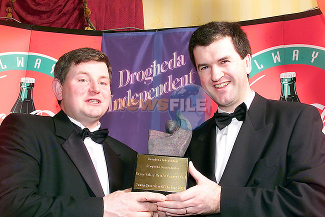 Frank Mulrennan and Stephen McDonnell winner of the sport star of the year for 2001..Picture Fran Caffrey Newsfile.