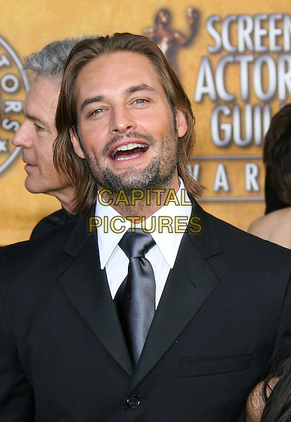 JOSH HOLLOWAY.12th Annual Screen Actors Guild Awards (SAG) held at the Shrine Auditorium, Los Angeles, California, USA.  .January 29th, 2006.Photo: Zach Lipp/AdMedia/Capital Pictures.Ref: ZL/ADM.headshot portrait stubble facial hair mouth open.www.capitalpictures.com.sales@capitalpictures.com.© Capital Pictures.