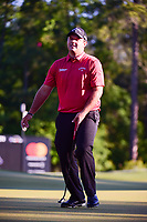 Patrick Reed (USA) reacts to barely missing his putt on 10  during round 2 of the Shell Houston Open, Golf Club of Houston, Houston, Texas, USA. 3/31/2017.<br /> Picture: Golffile | Ken Murray<br /> <br /> <br /> All photo usage must carry mandatory copyright credit (&copy; Golffile | Ken Murray)