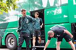 20.07.2019, Heinz Detmar Stadion, Lohne, Interwetten Cup 1.VfL Osnabrück vs SV Werder Bremen<br /> <br /> im Bild / picture shows <br /> Ankunft Werder bremen in Lohne<br /> Yuya Osako (Werder Bremen #08)<br /> Foto © nordphoto / Kokenge