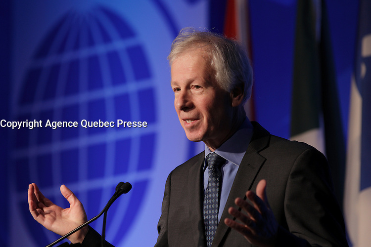 Stephane Dion, <br /> Minister of Foreign Affairs, Canada<br /> attend the the 22nd edition of the Conference of Montreal, held June 13 to 15, 2016<br /> <br /> PHOTO : Pierre Roussel -  Agence Quebec Presse