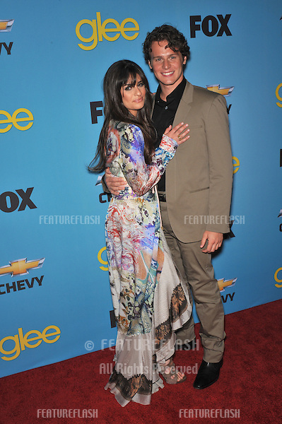 """Lea Michele & Jonathan Groff at the """"Glee"""" spring series premiere party at Chateau Marmont, West Hollywood..April 12, 2010  Los Angeles, CA.Picture: Paul Smith / Featureflash"""