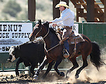 Darrel Norcutt competes in the ranch horse class slack event at the Minden Ranch Rodeo on Saturday, July 23, 2011, in Gardnerville, Nev. .Photo by Cathleen Allison