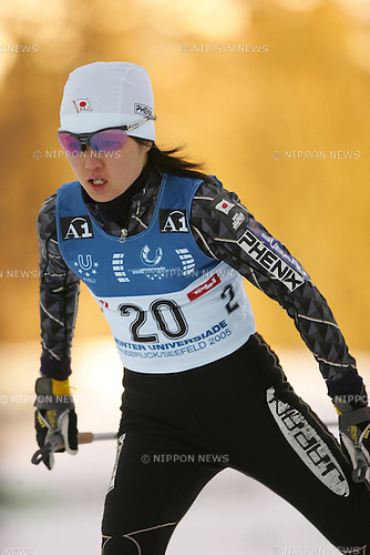 Azusa Nojiri (JPN), JANUARY 16, 2005 - Cross Country Skiing : The 22nd Winter Universiade Innsbruck 2005 Women 5km Free at Casino Arena Cross Country Skiing Course, Seefeld, Austria. (Photo by Daiju Kitamura/AFLO SPORT) [1045].....