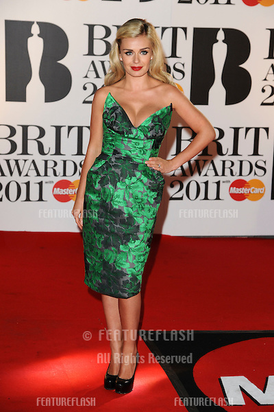 Katherine Jenkins arriving for the Brit Awards 2011 at the O2 centre, Greenwich, London.  16/02/2011  Picture by: Steve Vas / Featureflash