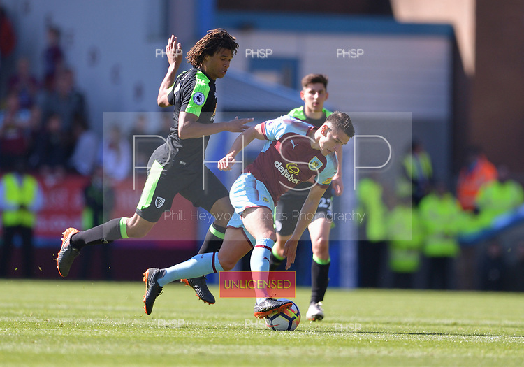 13/05/2018 Premier League Burnley v AFC Bournemouth<br /> <br /> Kevin Long fouled by Nathan Ake