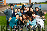 Chinese students studying at IT Tralee who took part in the Colour Dash 5km Colour Run, in aid of Crumlin Children's Hospital at Tralee Bay Wetlands, on Sunday morning last.