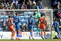 Gillingham goalkeeper, Tomas Holy, tips the ball over the crossbar during Gillingham vs Shrewsbury Town, Sky Bet EFL League 1 Football at The Medway Priestfield Stadium on 13th April 2019